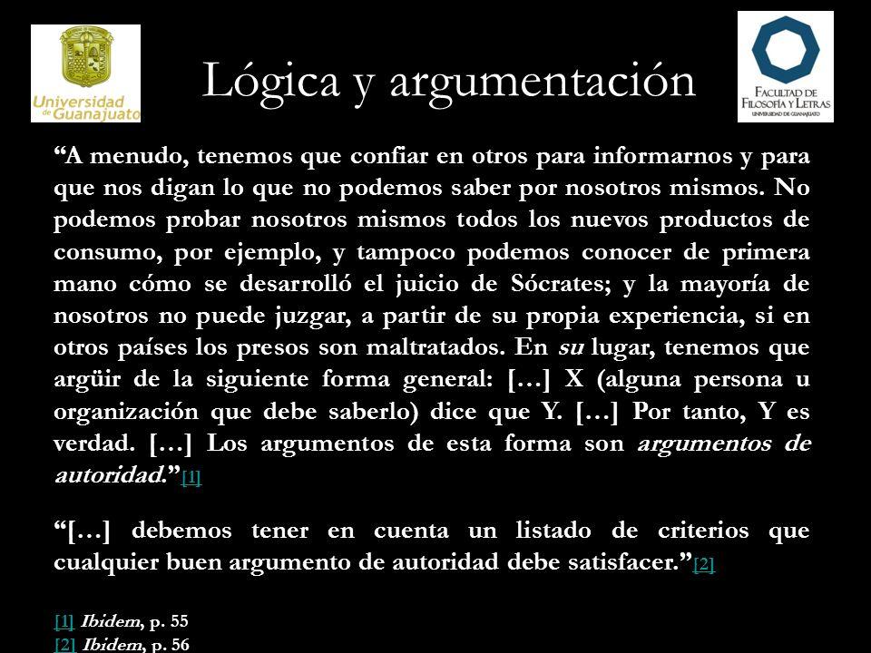 Lógica y argumentación 22.