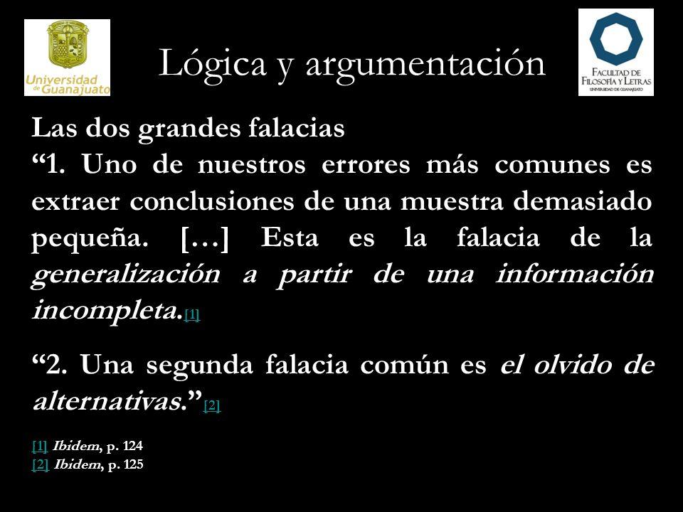 Lógica y argumentación Falacias de atinencia Cuando un argumento descansa en premisas que no son pertinentes para su conclusión y, por lo tanto, no pueden establecer de manera apropiada su verdad, la falacia cometida es de atinencia.