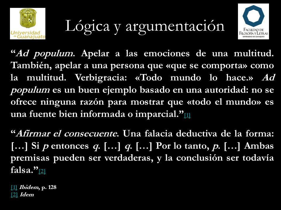 Lógica y argumentación 7.