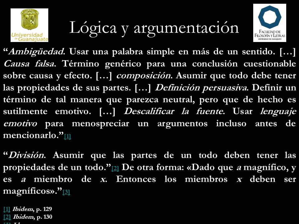 Lógica y argumentación Falacia «de la persona que».
