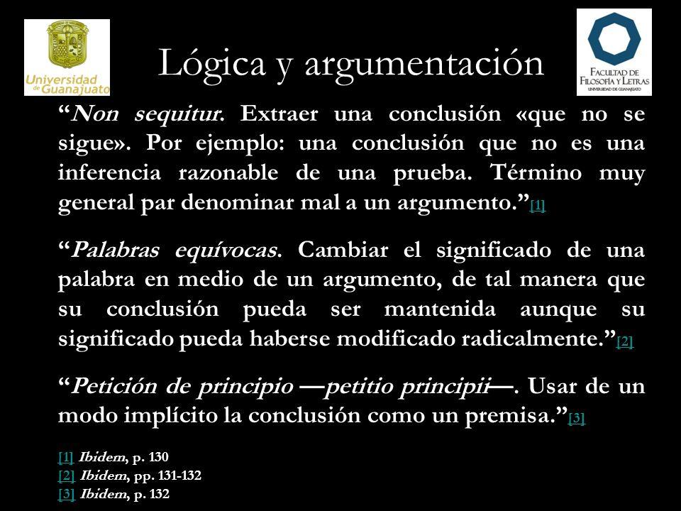 Lógica y argumentación Pista falsa.