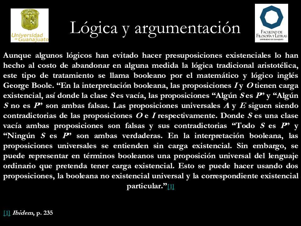 Aunque algunos lógicos han evitado hacer presuposiciones existenciales lo han hecho al costo de abandonar en alguna medida la lógica tradicional arist