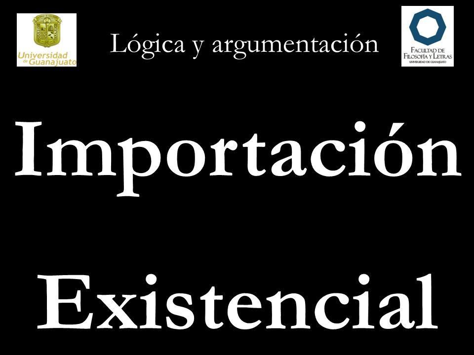 Lógica y argumentación Importación Existencial
