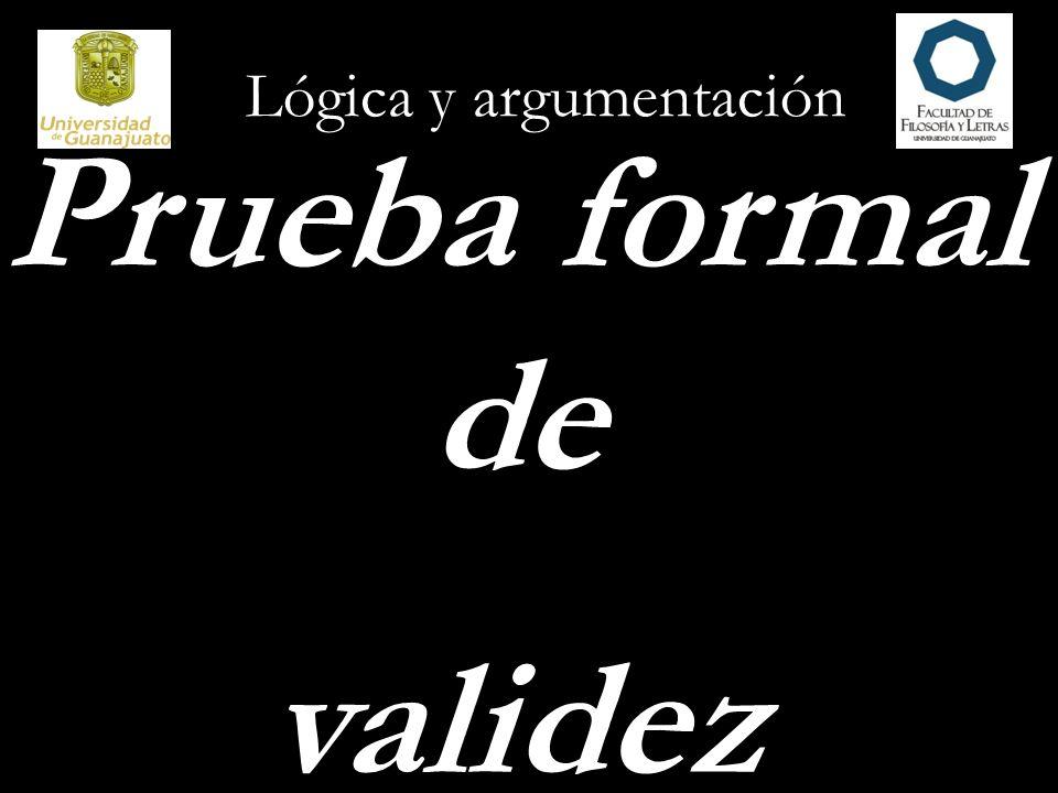 Lógica y argumentación Prueba formal de validez