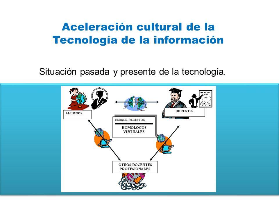 Aceleración cultural de la Tecnología de la información Situación pasada y presente de la tecnología.