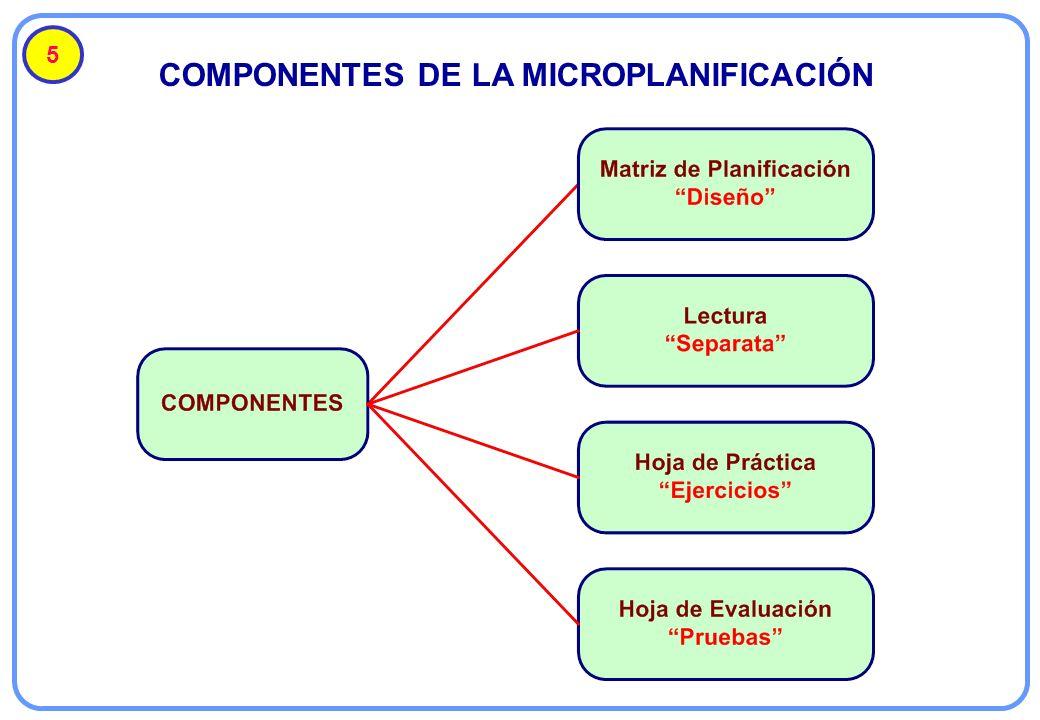 COMPONENTES DE LA MICROPLANIFICACIÓN 5