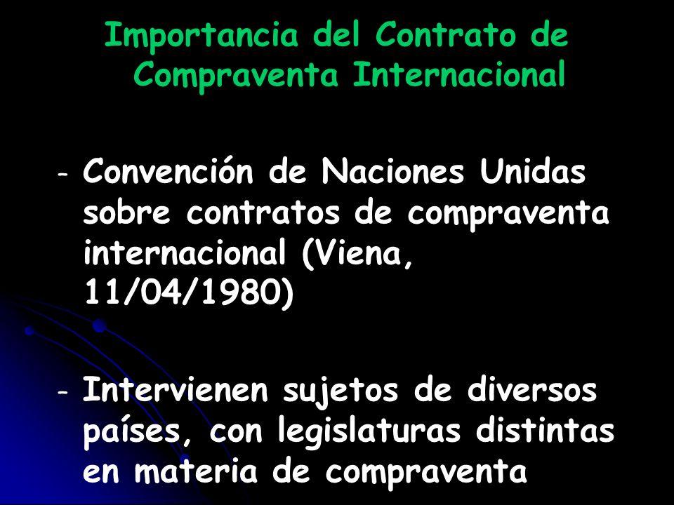Importancia del Contrato de Compraventa Internacional – – Convención de Naciones Unidas sobre contratos de compraventa internacional (Viena, 11/04/198