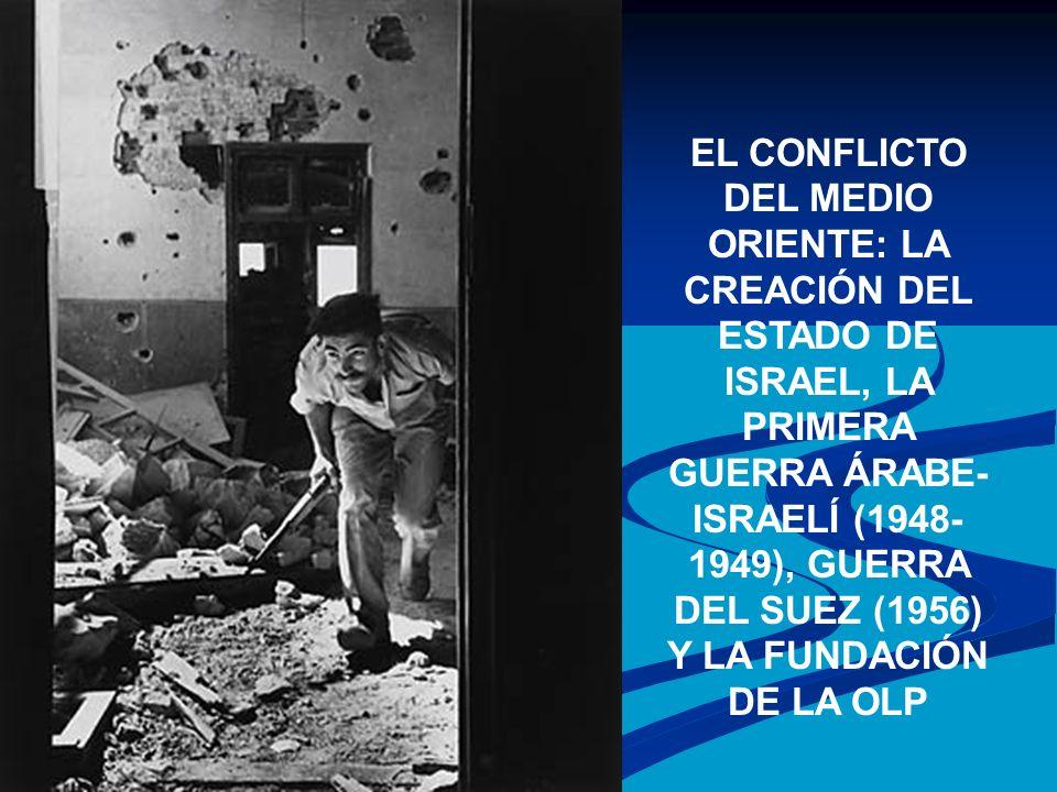 EL CONFLICTO DEL MEDIO ORIENTE: LA CREACIÓN DEL ESTADO DE ISRAEL, LA PRIMERA GUERRA ÁRABE- ISRAELÍ (1948- 1949), GUERRA DEL SUEZ (1956) Y LA FUNDACIÓN