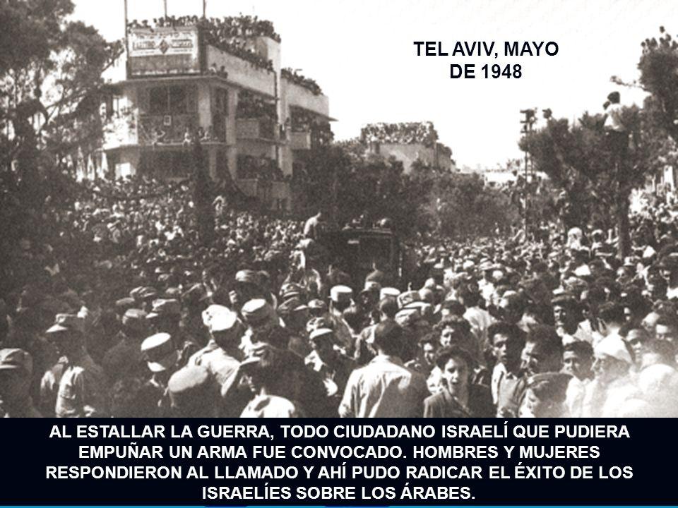 MILICIANOS ISRAELÍES EN UNA POSICIÓN DEFENSIVA EN LA GUERRA DE 1948.