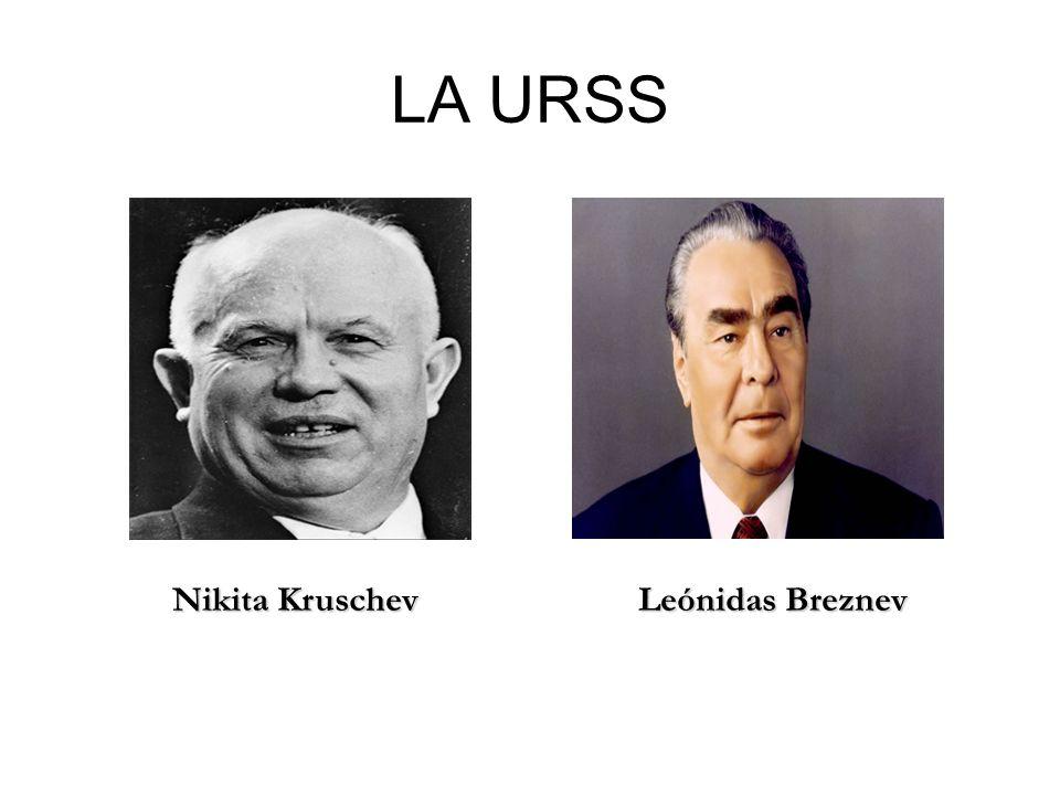 LA URSS Nikita Kruschev Leónidas Breznev Nikita Kruschev Leónidas Breznev