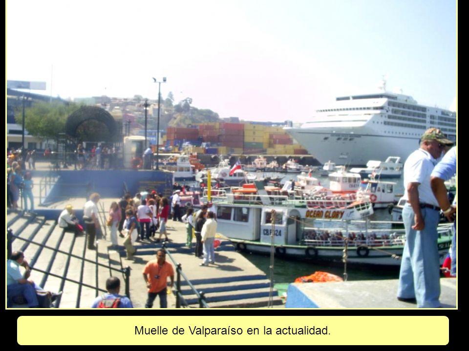 Muelle de Valparaíso en la actualidad.