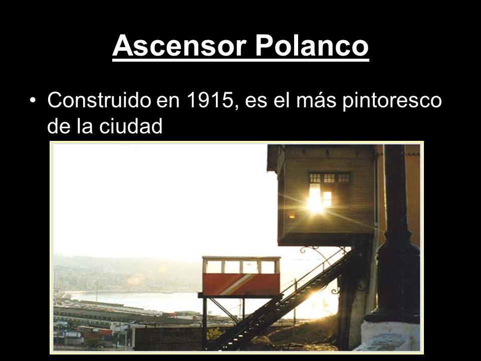 Ascensor Polanco Construido en 1915, es el más pintoresco de la ciudad