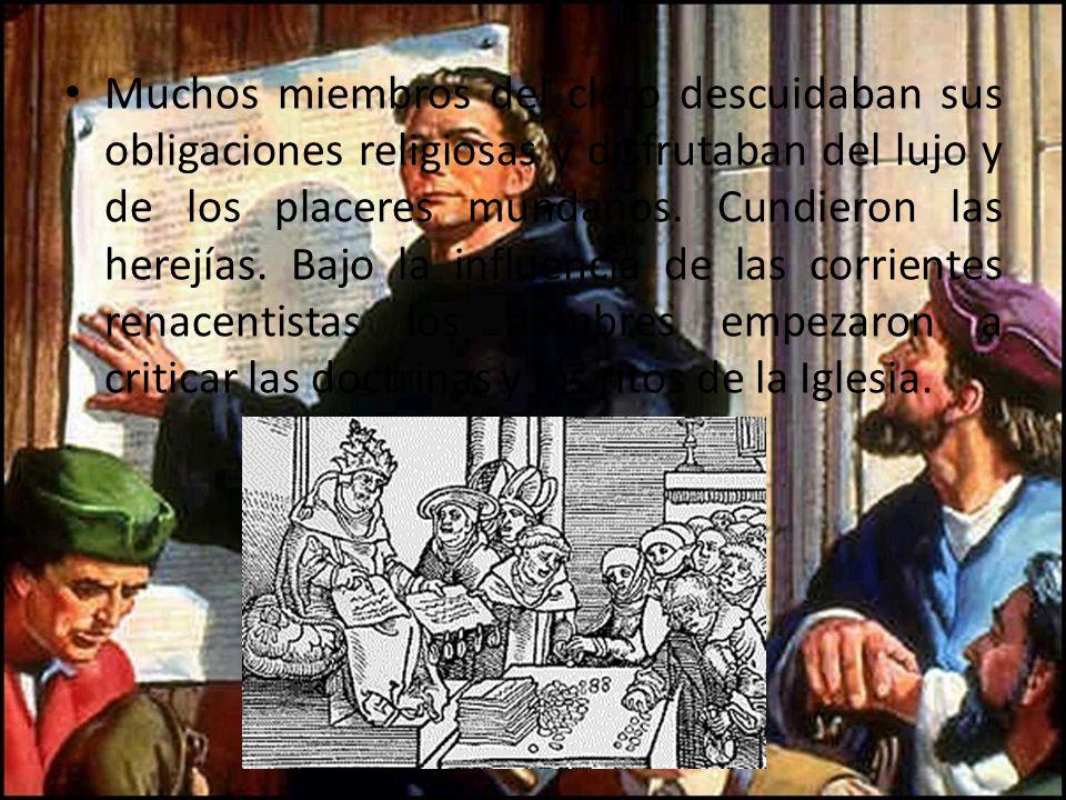 Martin Lutero En el año 1517 el monje agustino Martín Lutero publicó 95 tesis en que protestaba contra los abusos que se cometían en la venta de las indulgencias.Martín Lutero95 tesis