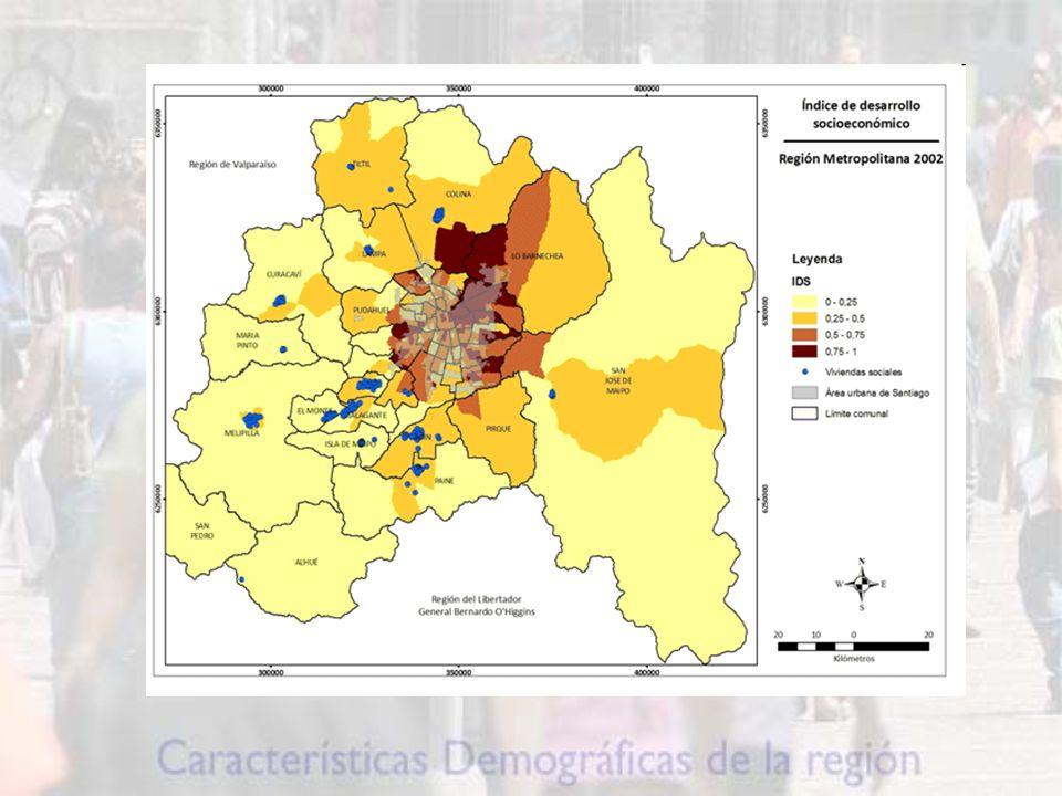 Este hecho adquiere relevancia si se considera que este segmento concentra a la mayor parte de la población económicamente activa de la región.