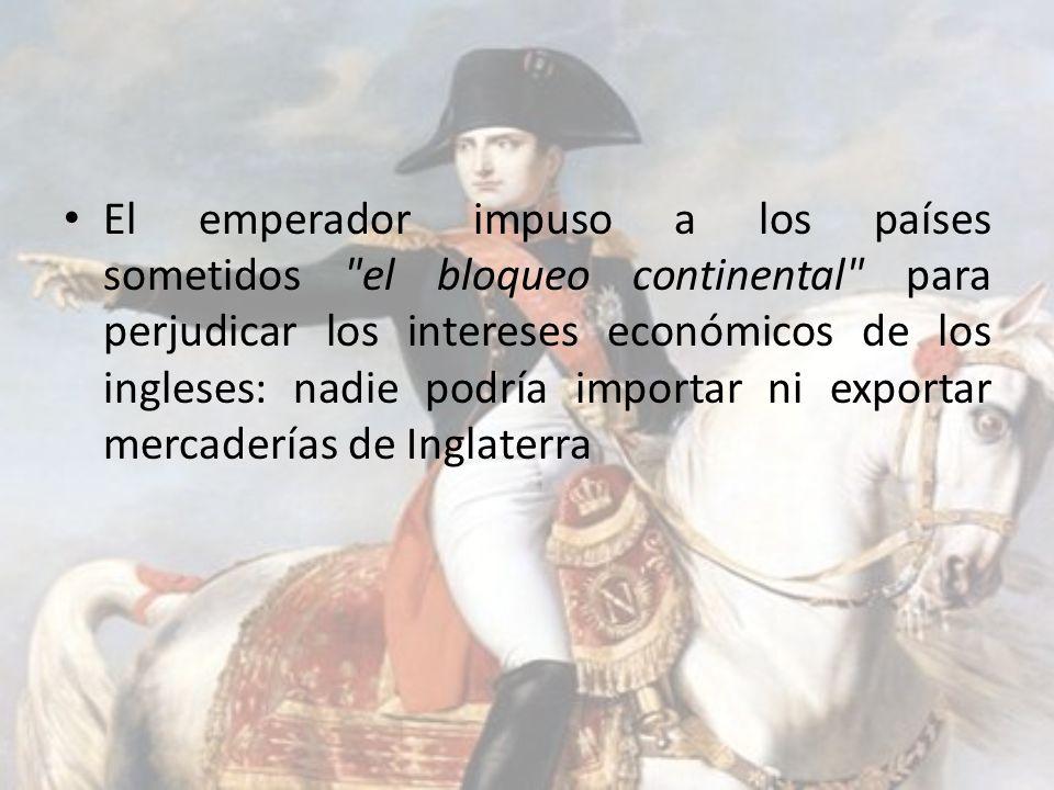 El emperador impuso a los países sometidos