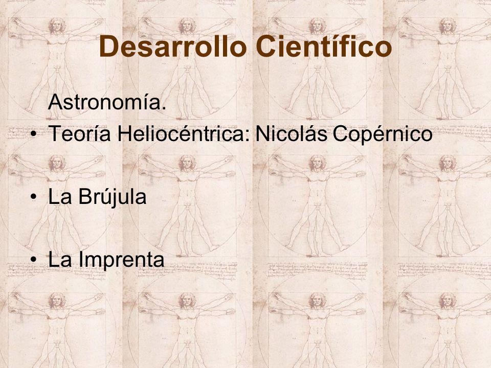 Desarrollo Científico Astronomía. Teoría Heliocéntrica: Nicolás Copérnico La Brújula La Imprenta