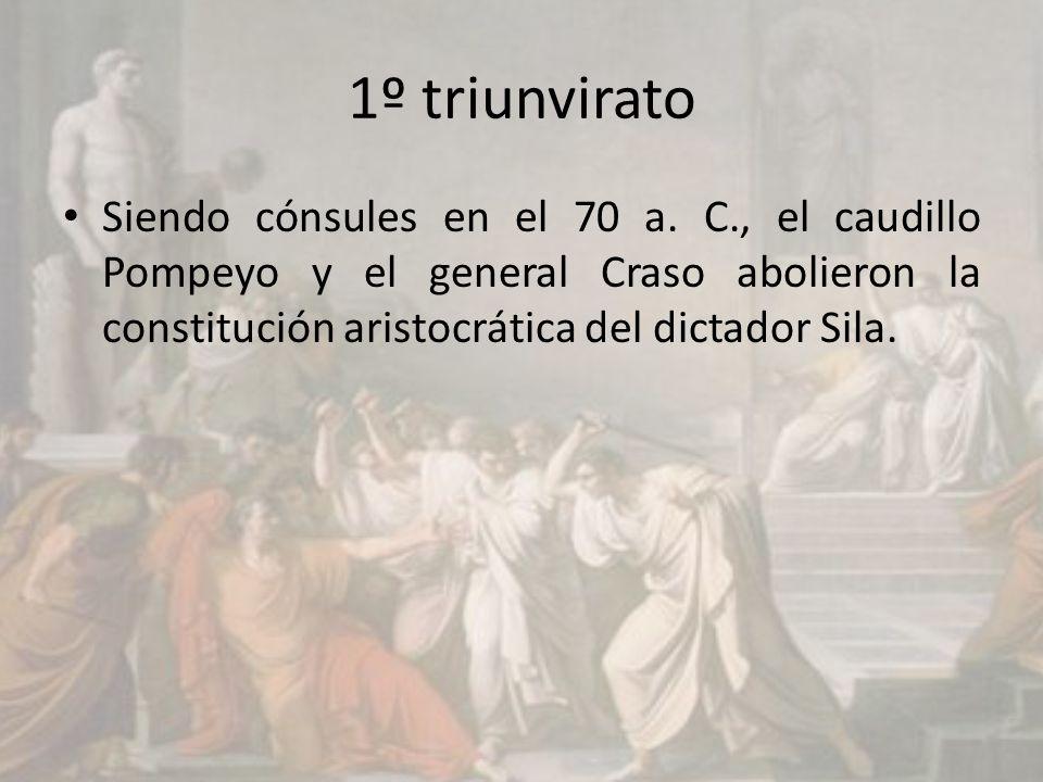 1º triunvirato Siendo cónsules en el 70 a.