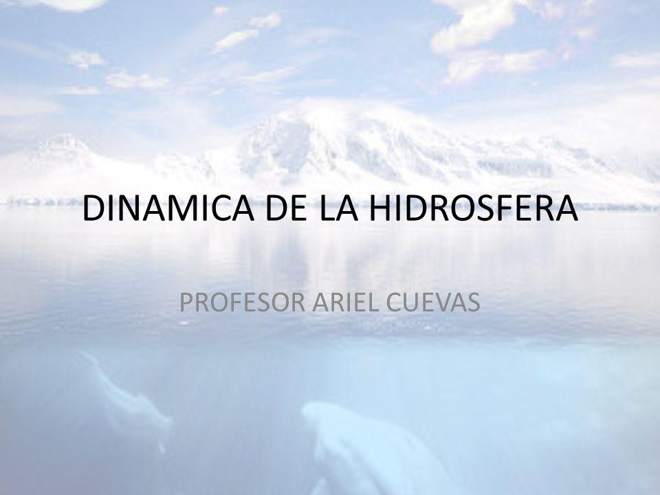 DINAMICA DE LA HIDROSFERA PROFESOR ARIEL CUEVAS