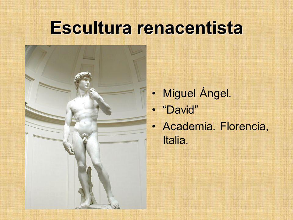 Escultura renacentista Miguel Ángel. David Academia. Florencia, Italia.