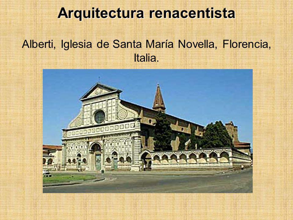 Arquitectura renacentista Arquitectura renacentista Alberti, Iglesia de Santa María Novella, Florencia, Italia.