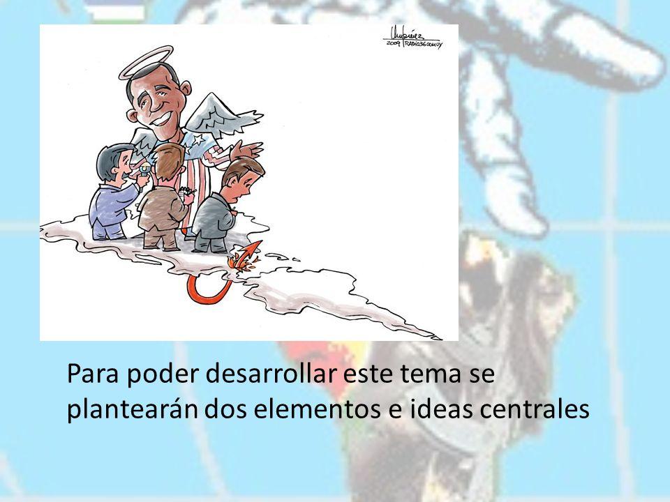En primer lugar, los factores políticos que unen a Estados Unidos con América Latina.