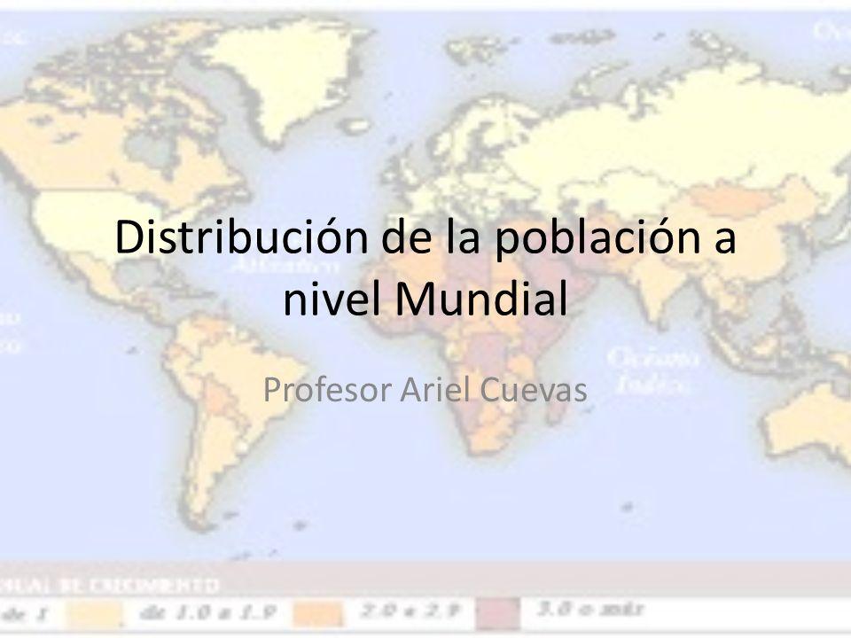 Distribución de la población a nivel Mundial Profesor Ariel Cuevas