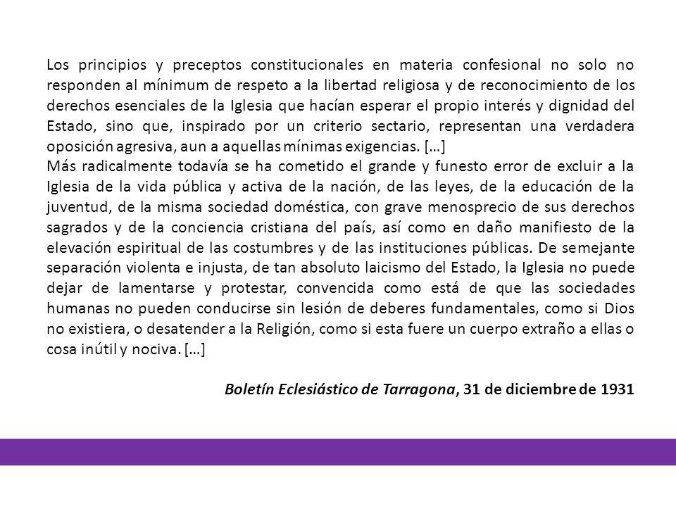 Los principios y preceptos constitucionales en materia confesional no solo no responden al mínimum de respeto a la libertad religiosa y de reconocimie