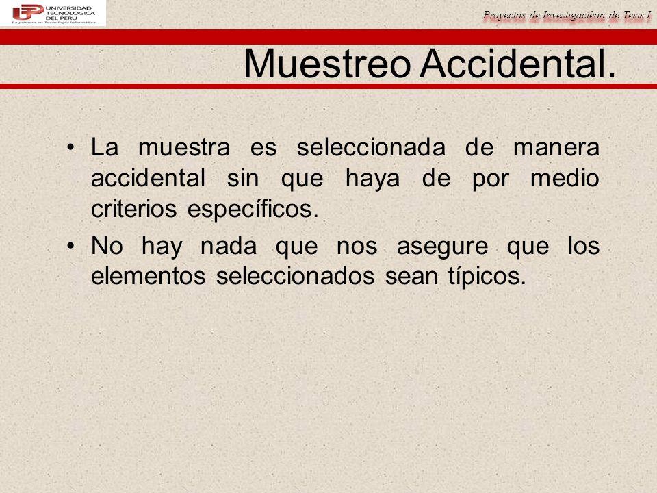 Proyectos de Investigacièon de Tesis I Muestreo Accidental.