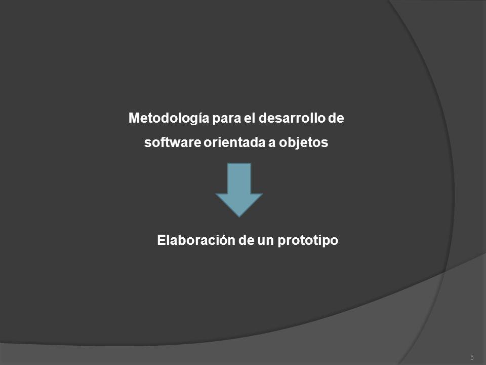 5 Metodología para el desarrollo de software orientada a objetos Elaboración de un prototipo