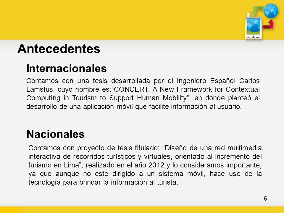 Antecedentes Internacionales Contamos con una tesis desarrollada por el ingeniero Español Carlos Lamsfus, cuyo nombre es:CONCERT: A New Framework for
