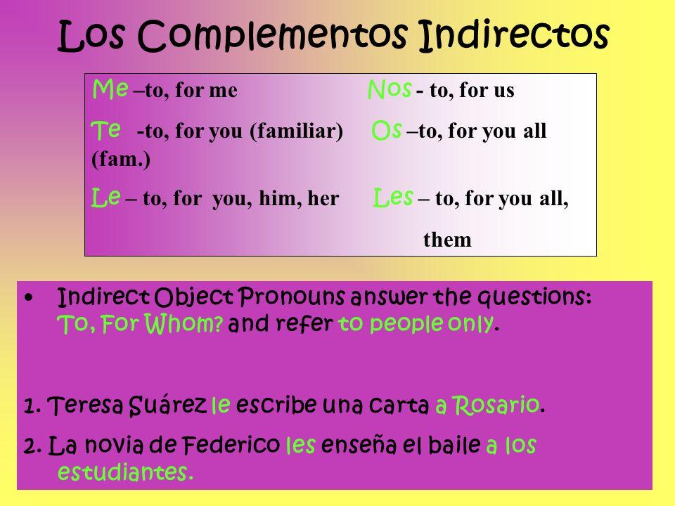 Práctica: Fill in the missing IOP 1.El señor Ruiz ____ compra un perro a Jaime.