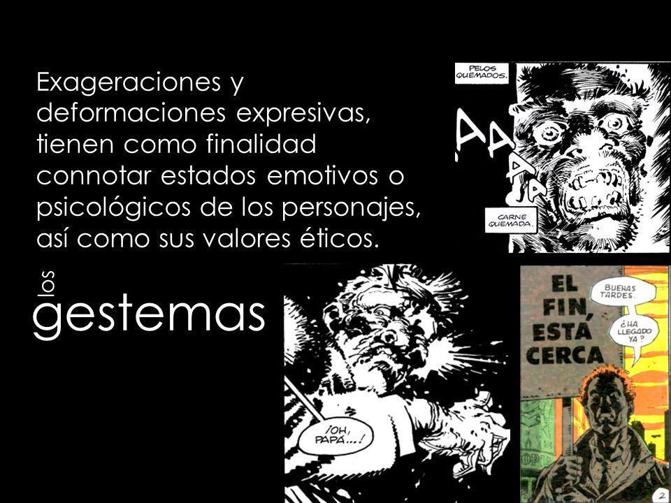 globos o locugramas Elementos exclusivos de los cómics, que integran en su interior el texto hablado de los diálogos.
