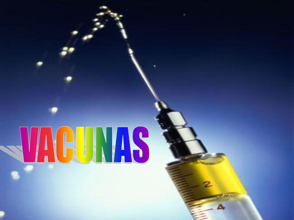 Definición de vacuna Clasificación de las vacunas Primera vacuna Tipos de vacunas Tabla