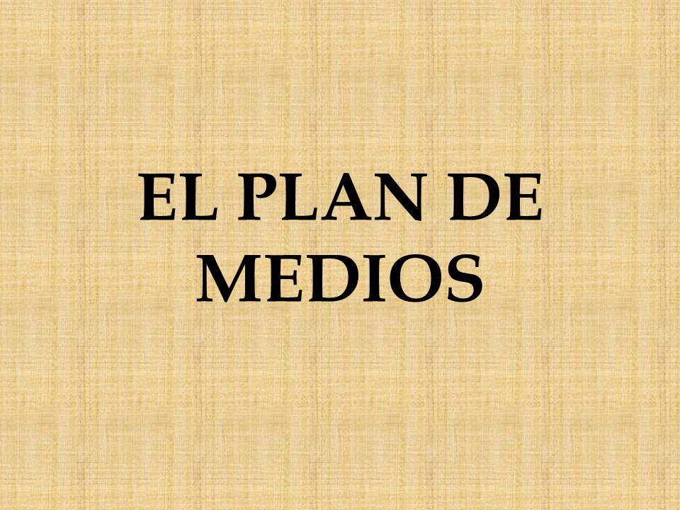 El plan de medios es la solución a la difusión de la campaña y se lleva a cabo mediante la planificación de medios, procedimiento que aplica diferentes técnicas para resolver cómo difundir masivamente un mensaje de la manera más rentable y eficaz.