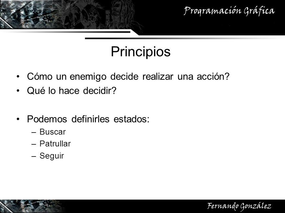 Principios Cómo un enemigo decide realizar una acción.