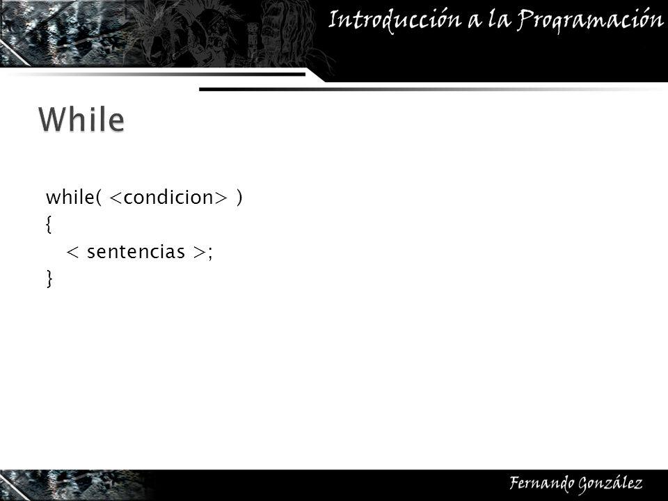 while( continuar ) { captarTeclas(); protagonista.Mover(); moverEnemigos(); aplicarFisica(); }