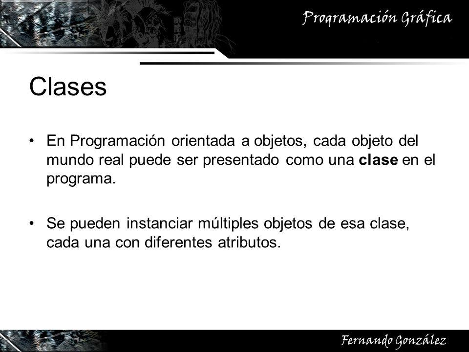 En Programación orientada a objetos, cada objeto del mundo real puede ser presentado como una clase en el programa. Se pueden instanciar múltiples obj