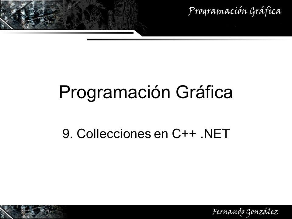 Programación Gráfica 9. Collecciones en C++.NET