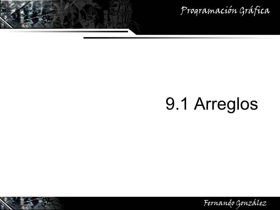 9.1 Arreglos