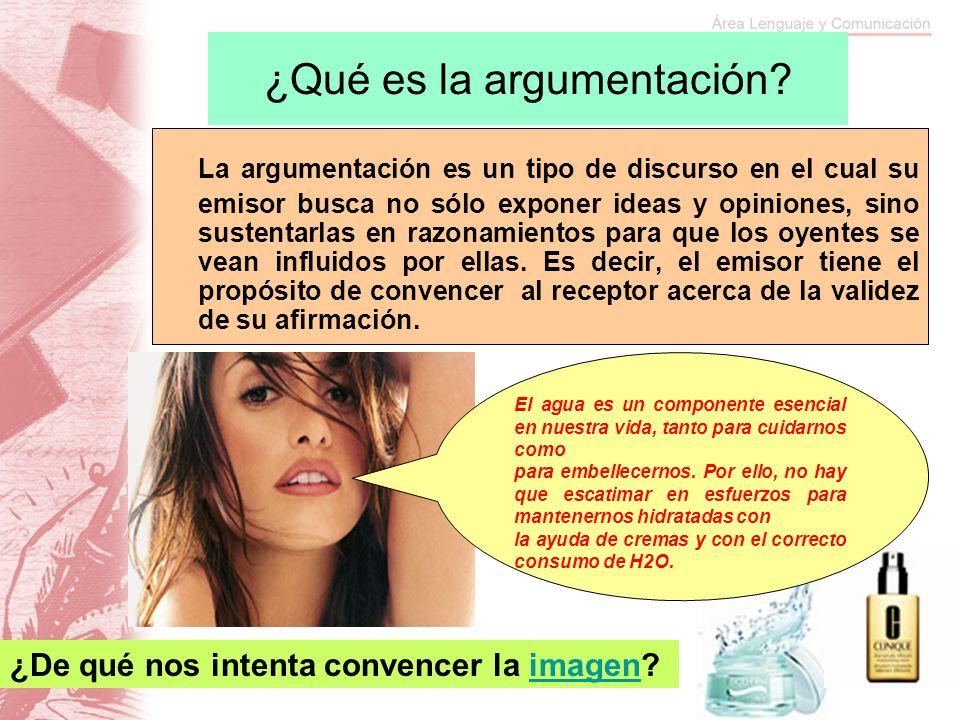 ¿Qué es la argumentación? La argumentación es un tipo de discurso en el cual su emisor busca no sólo exponer ideas y opiniones, sino sustentarlas en r