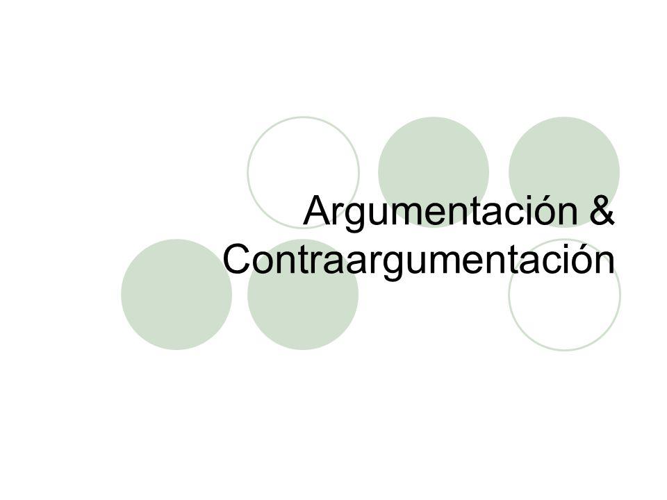 Argumentación & Contraargumentación