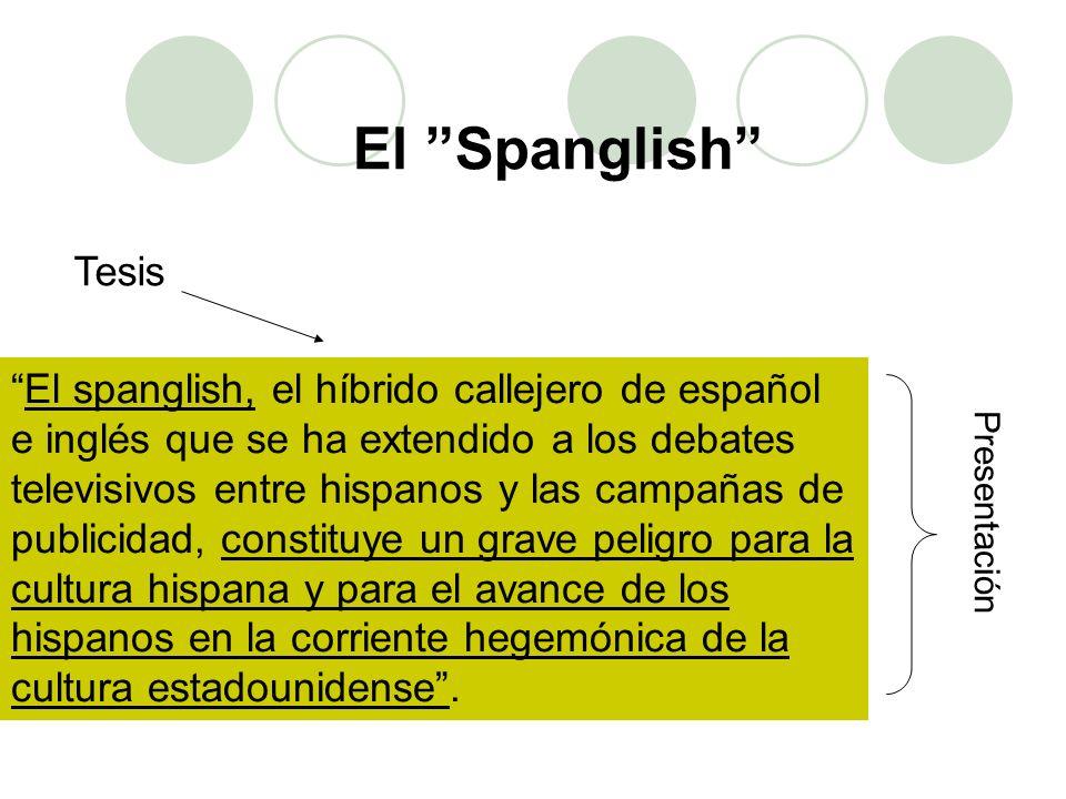 El spanglish, el híbrido callejero de español e inglés que se ha extendido a los debates televisivos entre hispanos y las campañas de publicidad, cons