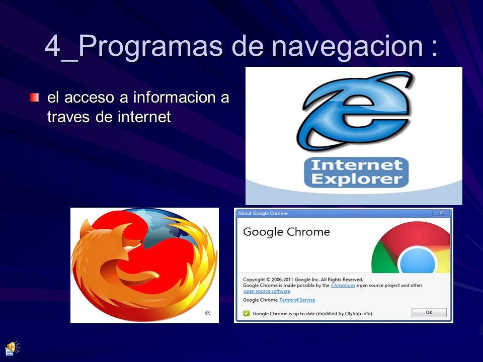 4_Programas de navegacion : el acceso a informacion a traves de internet