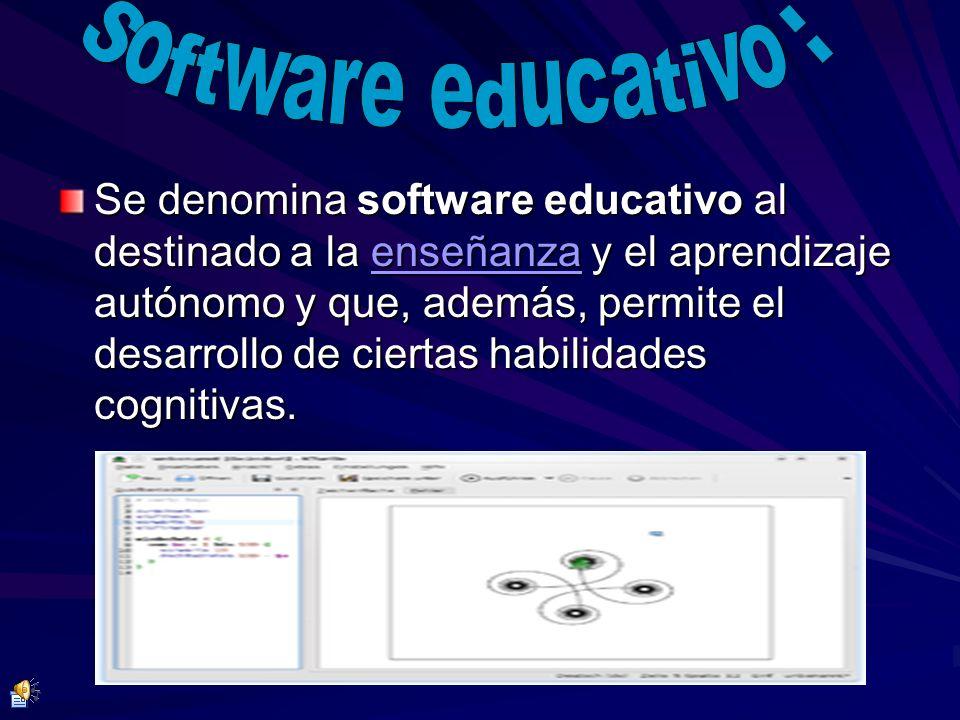 Se denomina software educativo al destinado a la eeee nnnn ssss eeee ññññ aaaa nnnn zzzz aaaa y el aprendizaje autónomo y que, además, permite el desa