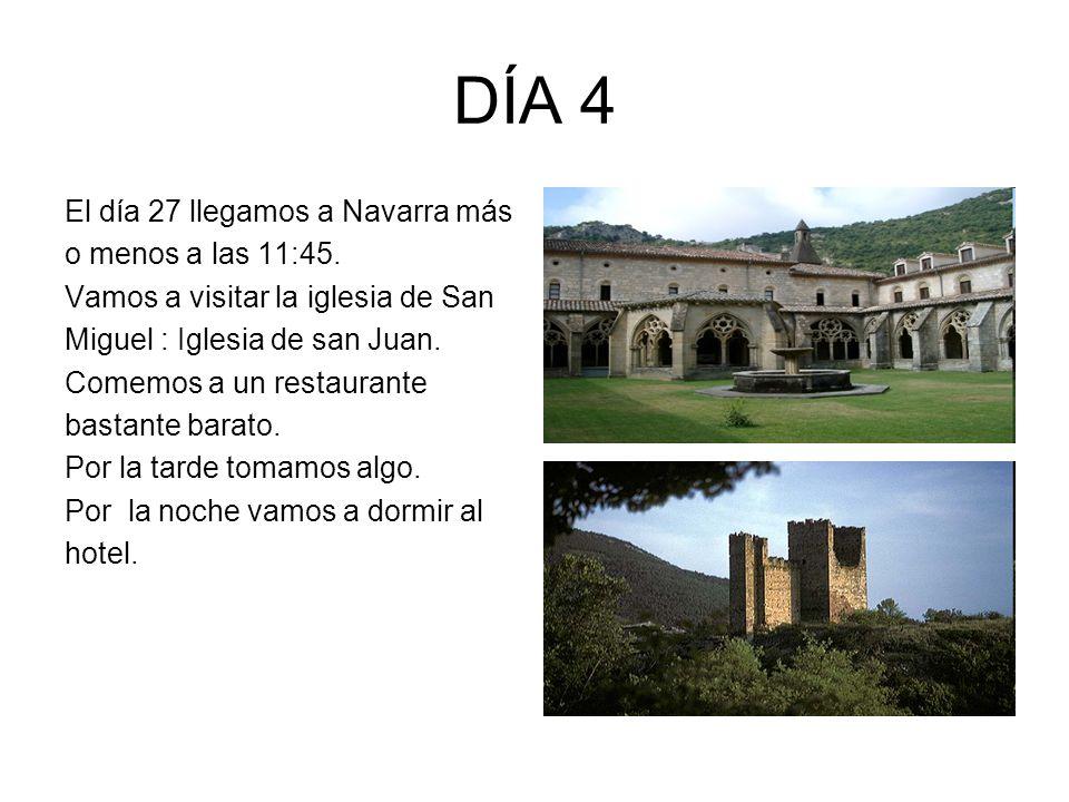 DÍA 4 El día 27 llegamos a Navarra más o menos a las 11:45.