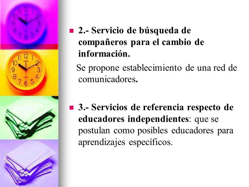 PROPUESTAS DESESCOLARIZADORAS 1.- Recopilación de información fuera de la escuela. Se trata de que la gente pueda acceder a lugares de adquisición de