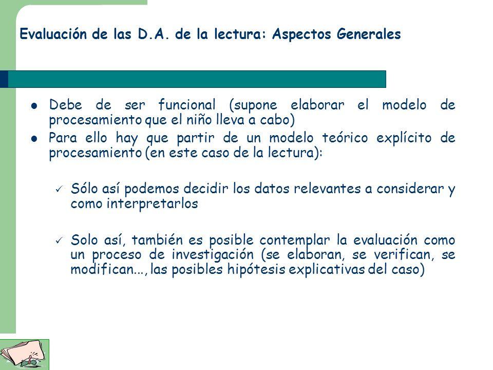La tarea del que lee… actividades implicadas en asignar un significado a los símbolos escritos Discriminación, reconocimiento de formas Categorización
