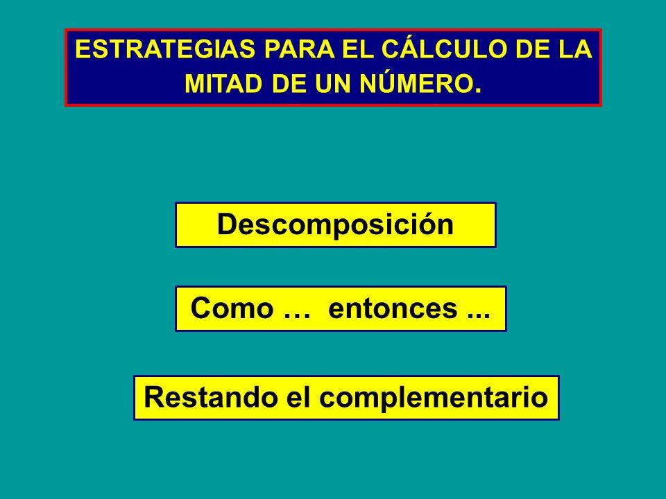 Descomposición La mitad de 250 250 250 lo descomponemos en 200 + 50 20050 + La mitad de 200 es 100 100 La mitad de 50 es 25 25 + = 125 La mitad de 250 es Por lo tanto: 125