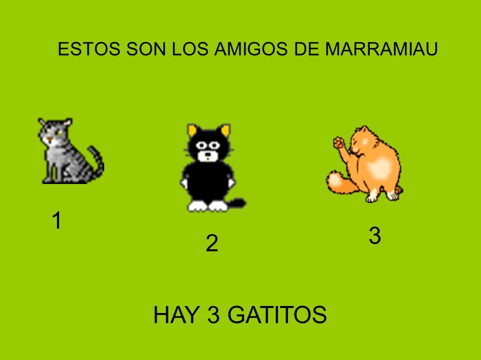 ESTOS SON LOS AMIGOS DE MARRAMIAU 1 2 3 HAY 3 GATITOS