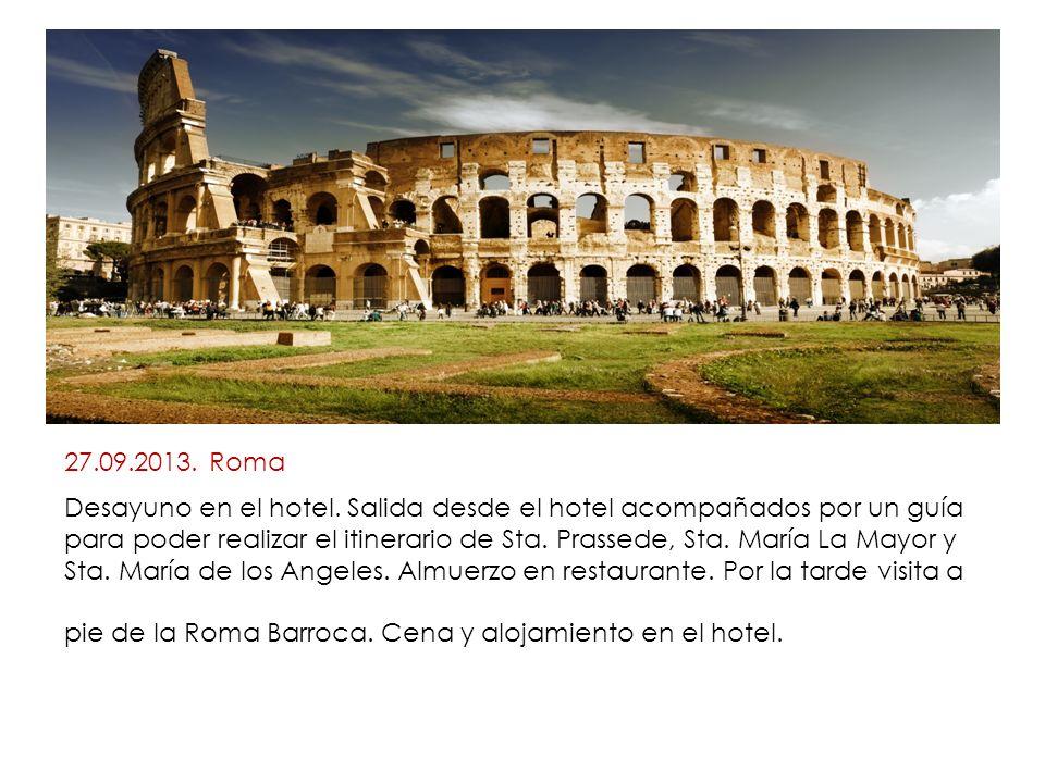 27.09.2013. Roma Desayuno en el hotel.